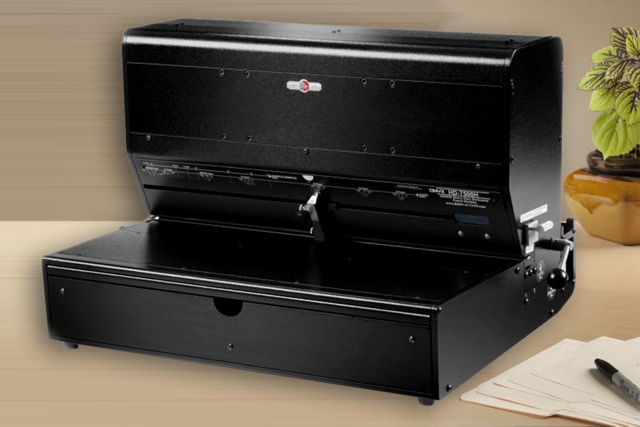 perforateur haute performance pour reliure professionnelle Rhin-O-Tuff ONYX HD7500