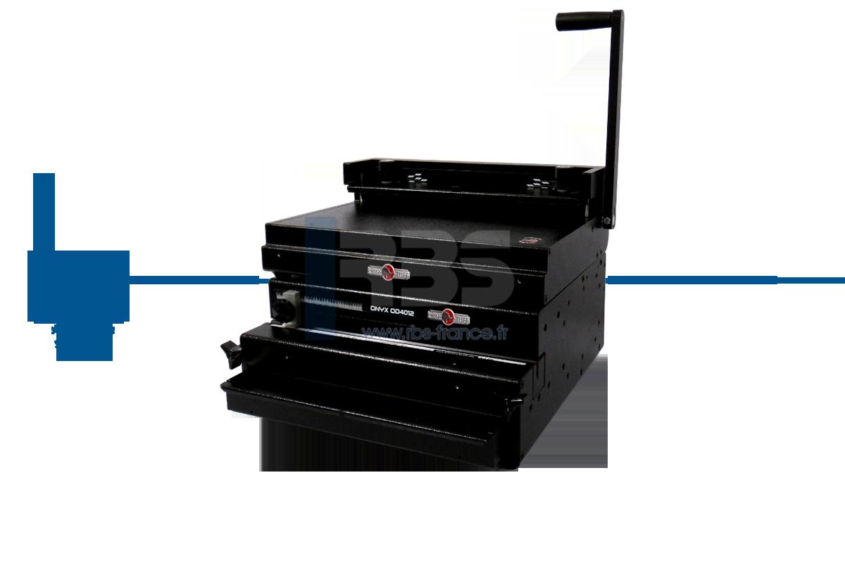perforelieur pour reliure professionnelle par anneaux metalliques ONYX OD4012 et HD8000